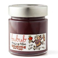 Peach and cinammon jam with red wine 240gr