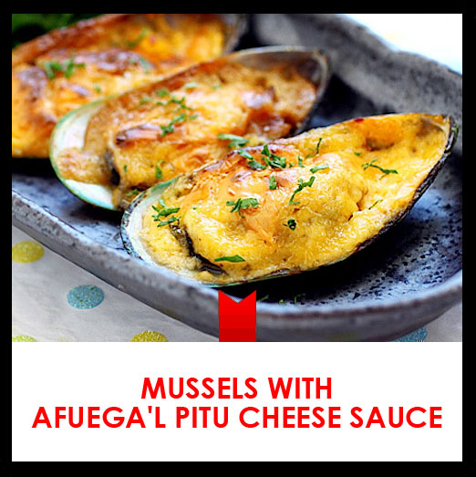 Mussels with Afuega'l Pitu cheese sauce recipe