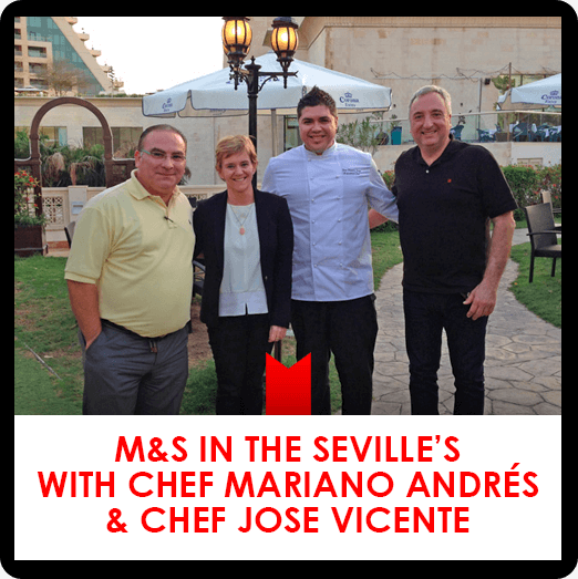 Seville's Restaurant with Chef Mariano Andrés and Chef José Vicente