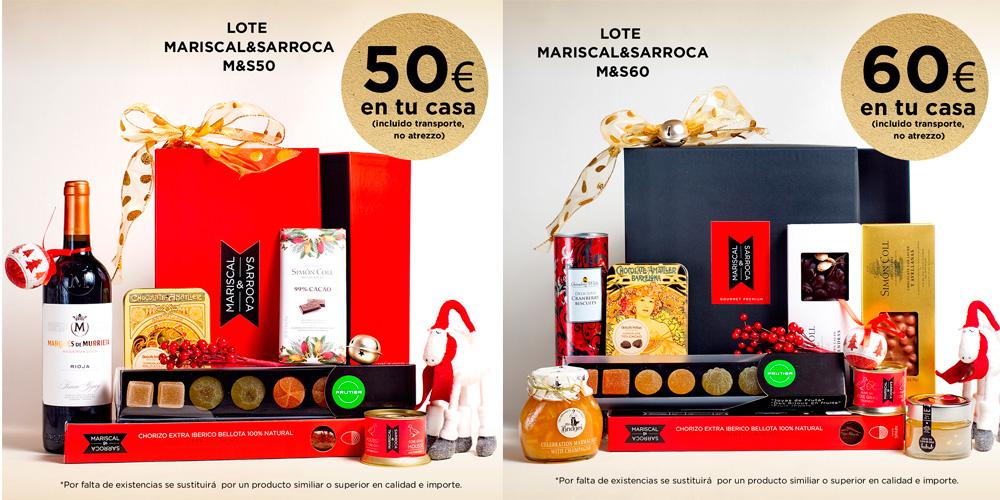 Cestas gourmet de Navidad 2015 (Mariscal & Sarroca)