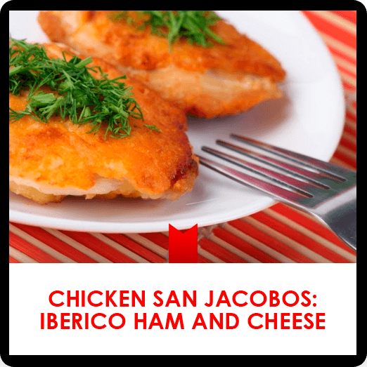 Chicken San Jacobos: Iberico Ham and Cheese  recipe