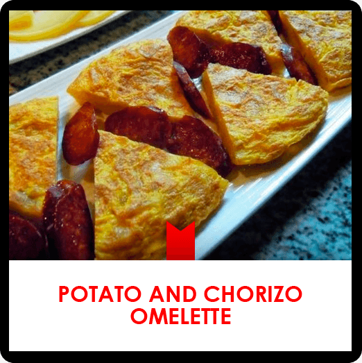 Potato and chorizo omelette recipe