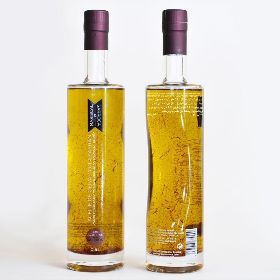 Aceite de oliva con azafrán
